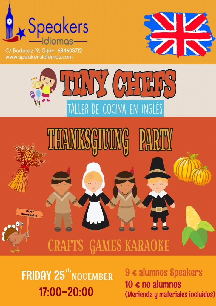 thanksgiving speakers idiomas inglés gijón