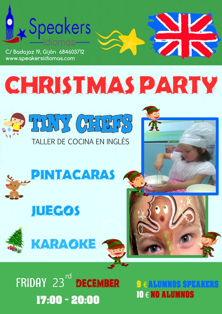 christmas party speakers idiomas inglés gijón