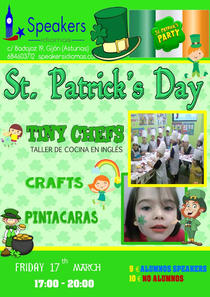 stpatrick's day speakers idiomas gijón