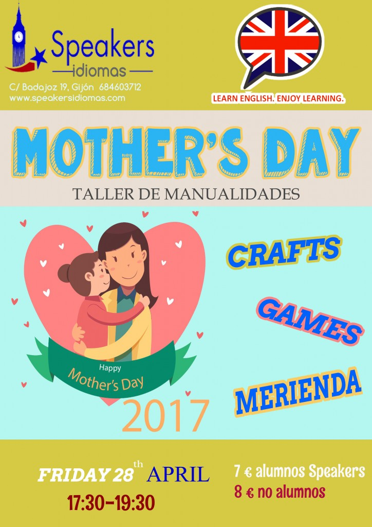 MOTHER'S DAY inglés gijón workshop