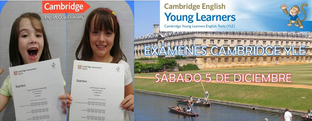 EXÁMENES CAMBRIDGE YLE – 5 DE DICIEMBRE